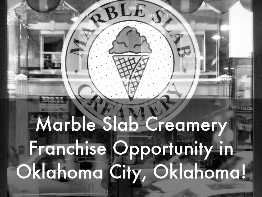 Marble Slab Creamery Opportunity in Oklahoma City, Oklahoma!