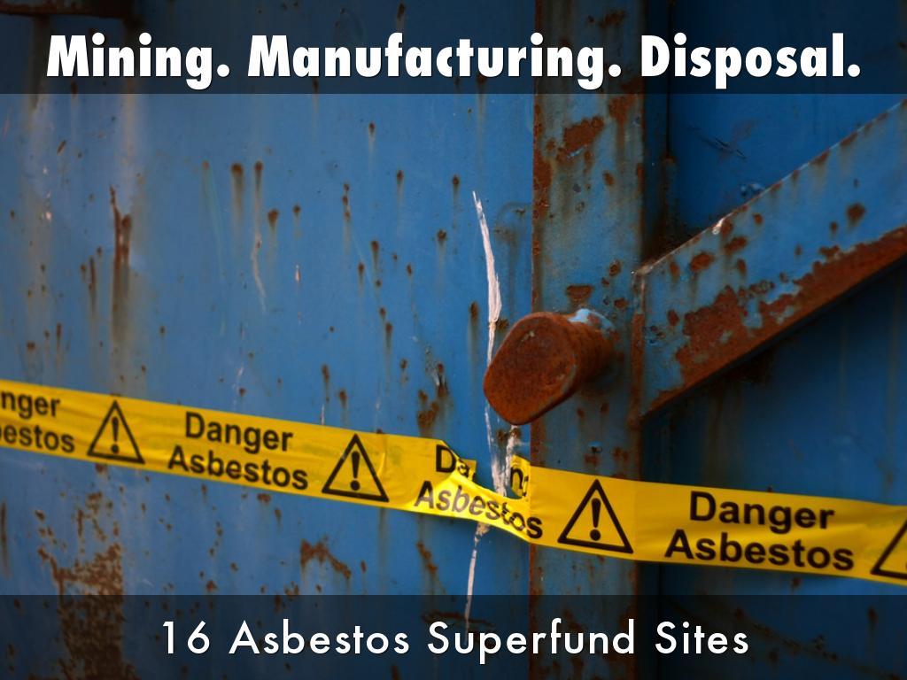 Mining. Manufacturing. Disposal.