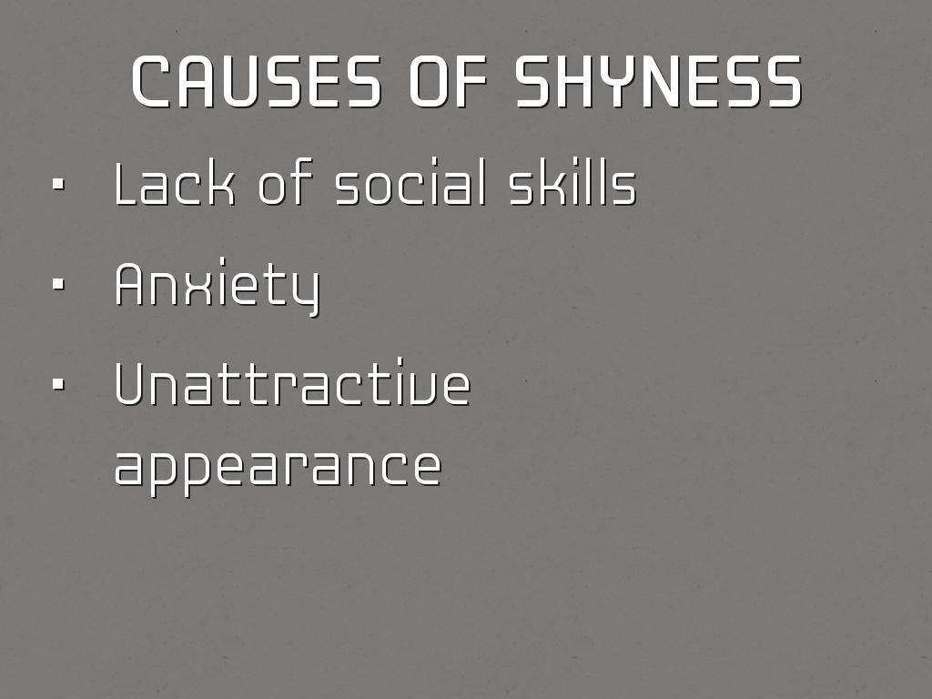 shyness causes