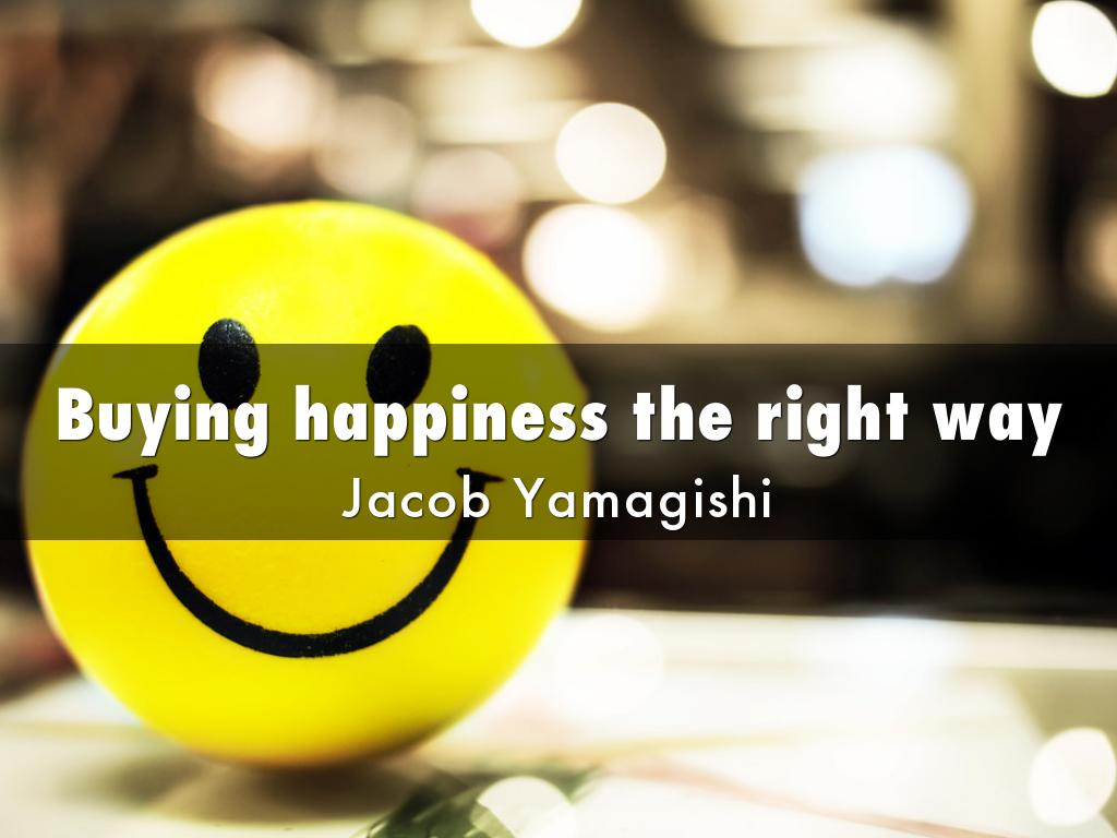 Buying happiness the right way