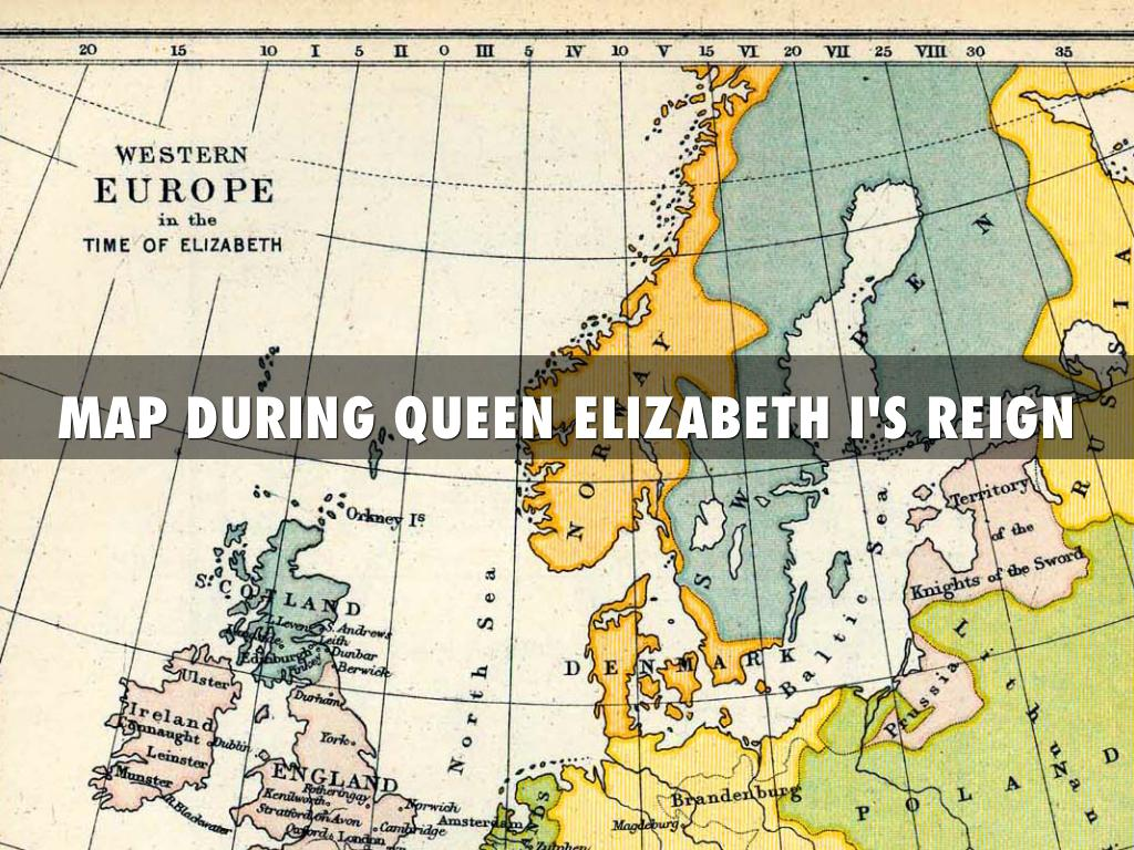 Elizabeth 1 england by samuel pittner map during queen elizabeth is reign gumiabroncs Images