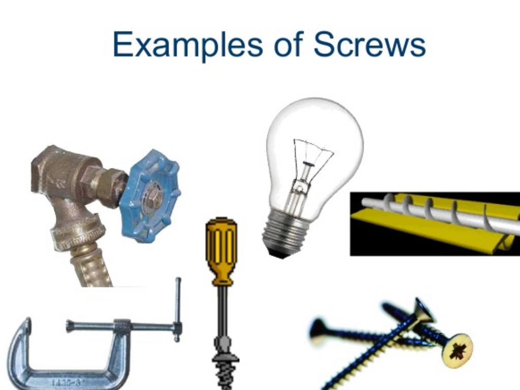 screw examples. 12. Screw Examples