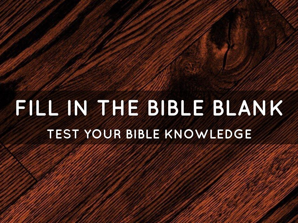 Fill in the Bible Blank