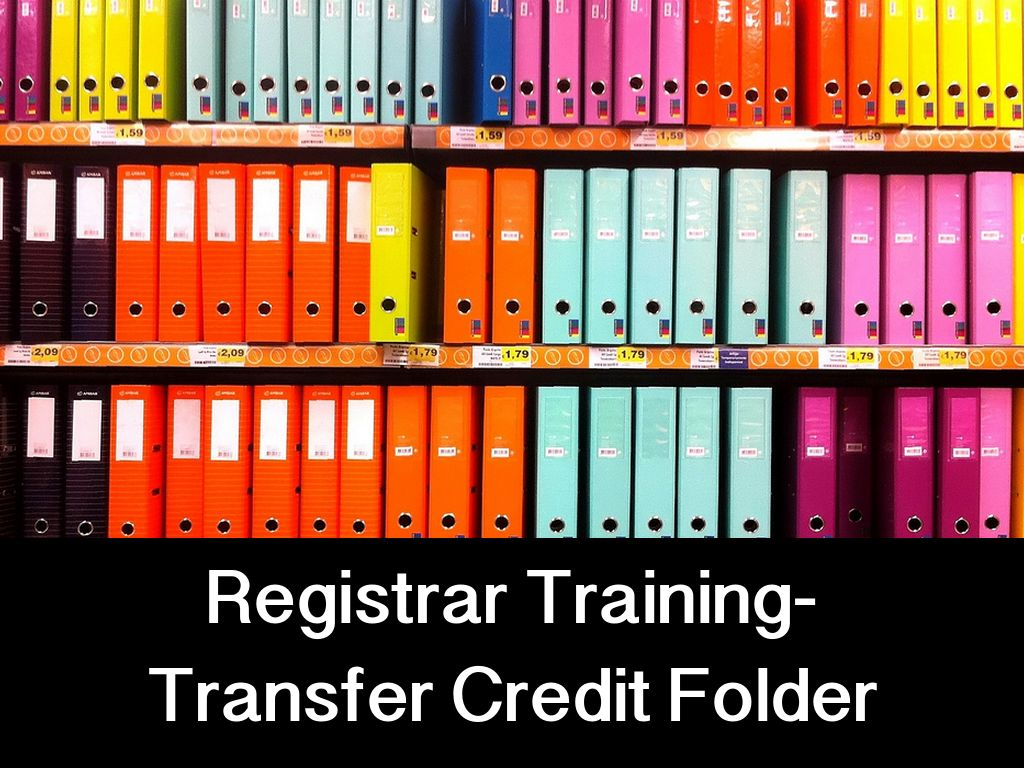 Registrar Training