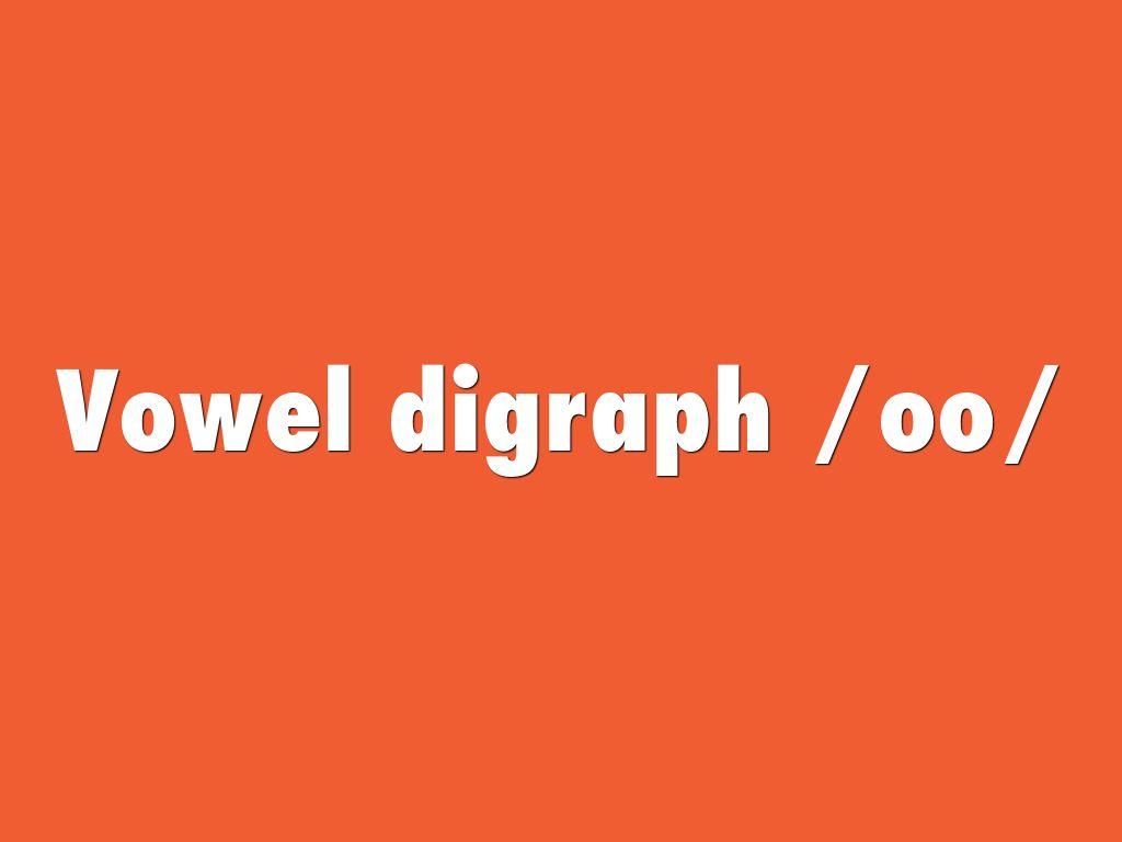 Vowel digraph /oo/ by Mabel Sabangan