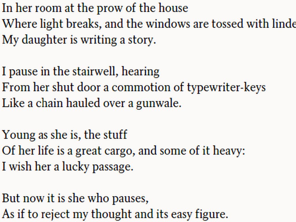 boy at the window richard wilbur