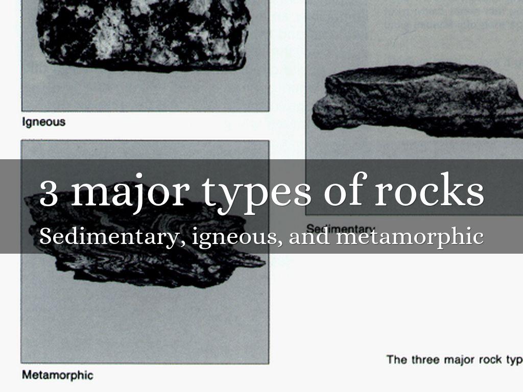 igneous sedimentary and metamorphic rocks
