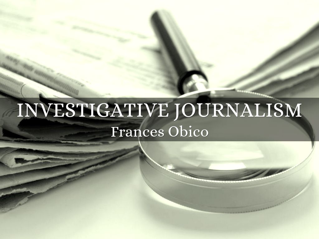 Investigative journalism for Bureau for investigative journalism