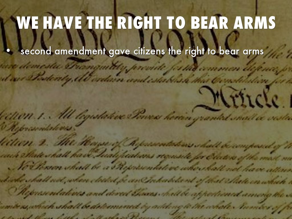 the right to bear arms essay The right to bear arms has mostly been for white people gun laws, historically, weren't colorblind gun laws, historically, weren't colorblind by adam winkler by.