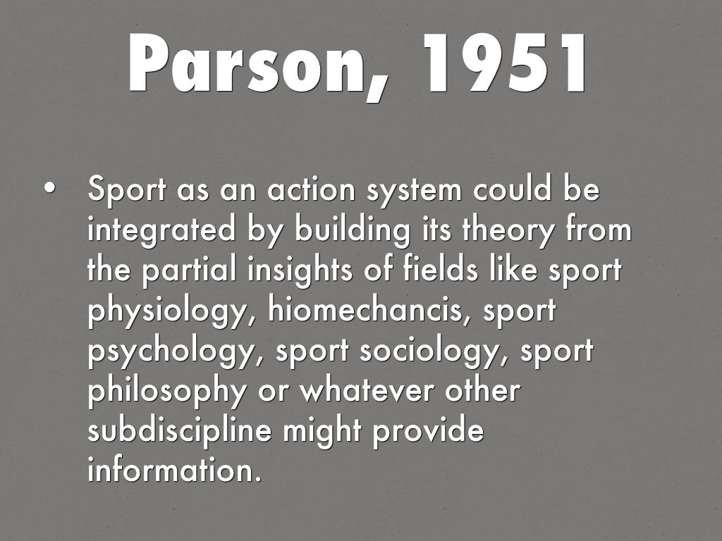 sociology of sport thesis
