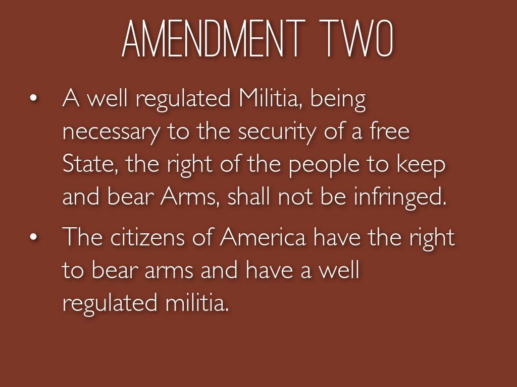 the importance of a well regulated militia for a free state A well regulated militia being necessary to the security of a free state, the right of the people to keep and bear arms shall not be infringed.