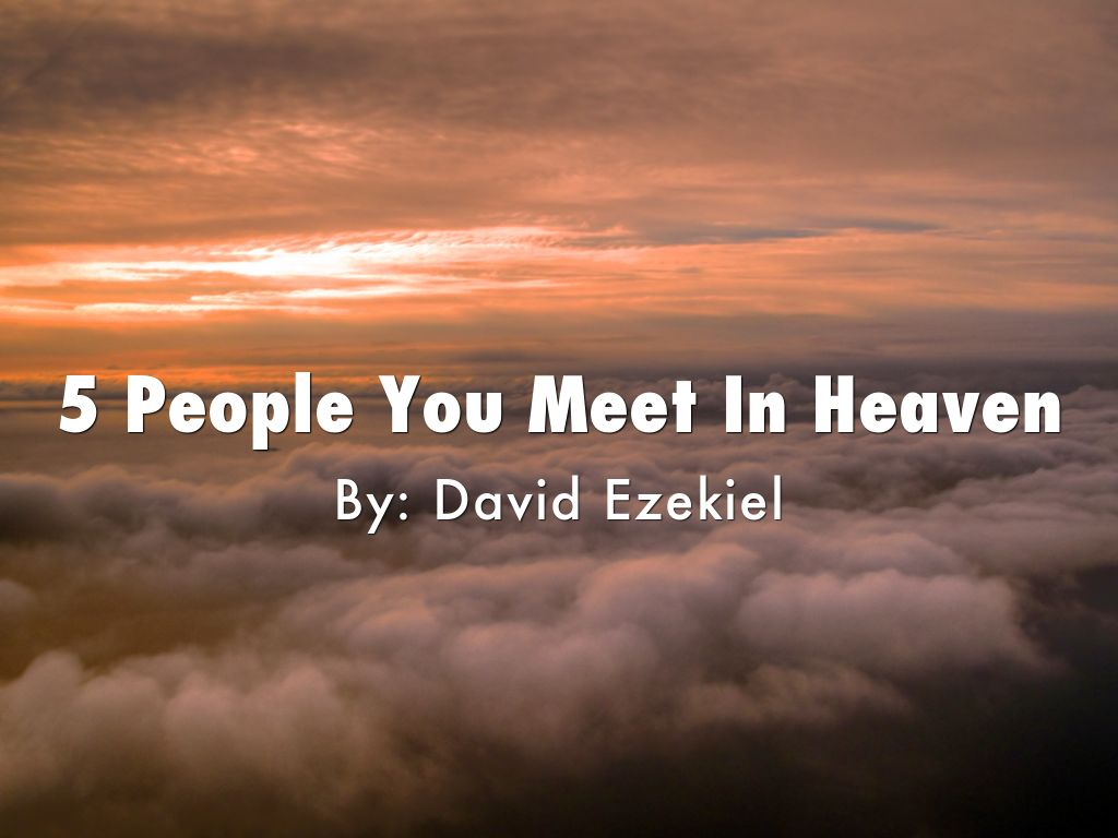 the five people you meet in heaven moral lesson The five people you meet in heaven is a novel by mitch albom it follows the life  and death of  from this, eddie learns his first lesson which is that there are no  random events in life and all individuals and experiences are connected in some .
