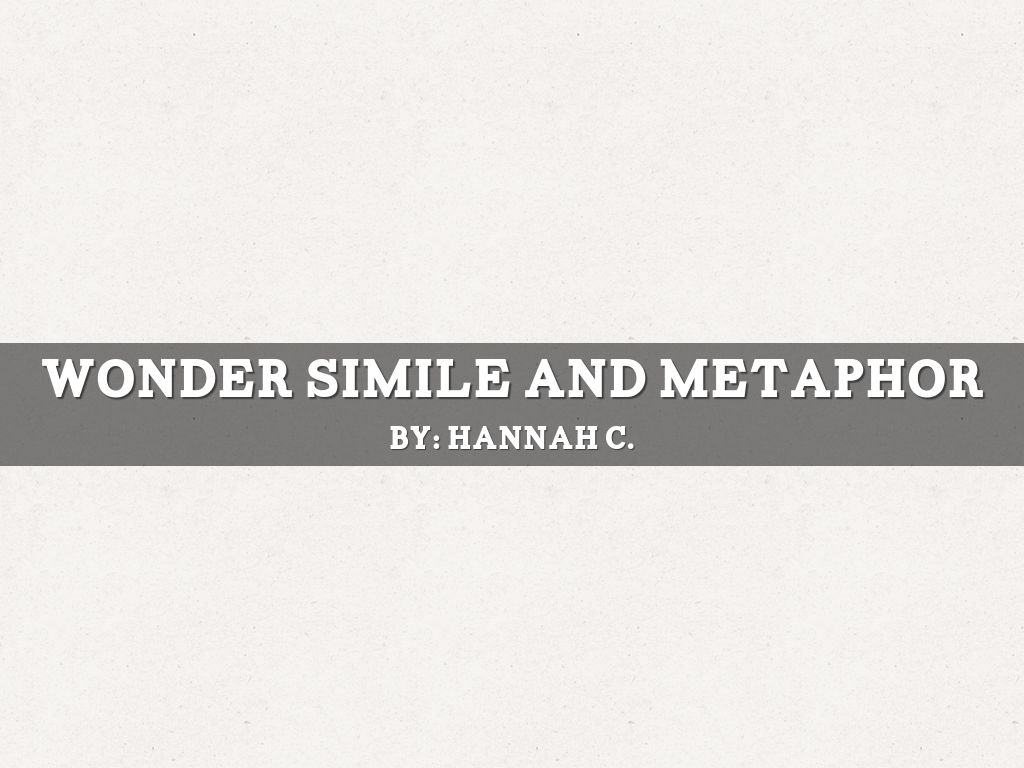 Copy of Wonder Simile and Metaphor by Michelle Izzo