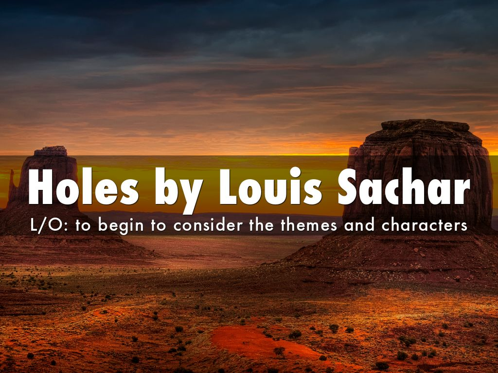 "'holes' by louis sachar 2018-4-26  ""i didn't want 'holes' being turned into some soft, fluffy film,"" author louis sachar told thewrap about the film upon its 15th anniversary."