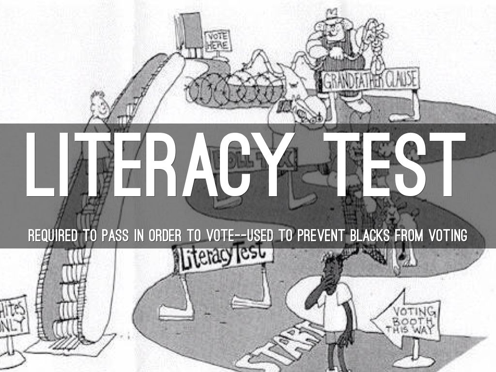 Literacy Test Political Cartoon Wwwtopsimagescom
