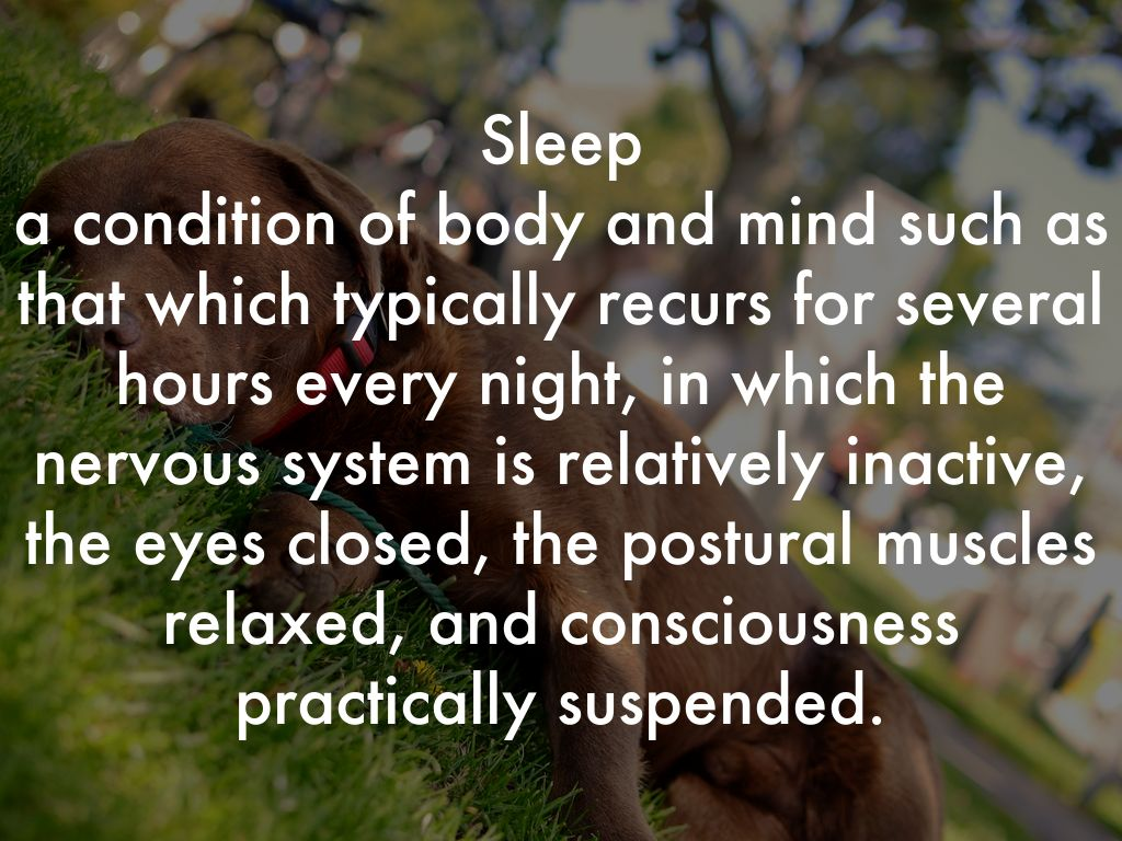 sleep is a condition of body and Deep sleep is also the time of peak growth hormone release in the body, which is important for cell reproduction and repair others think that it might be a way to unlearn memories, or to process unwanted feelings or emotions each of these ideas has its flaws, and no one knows the real answer.