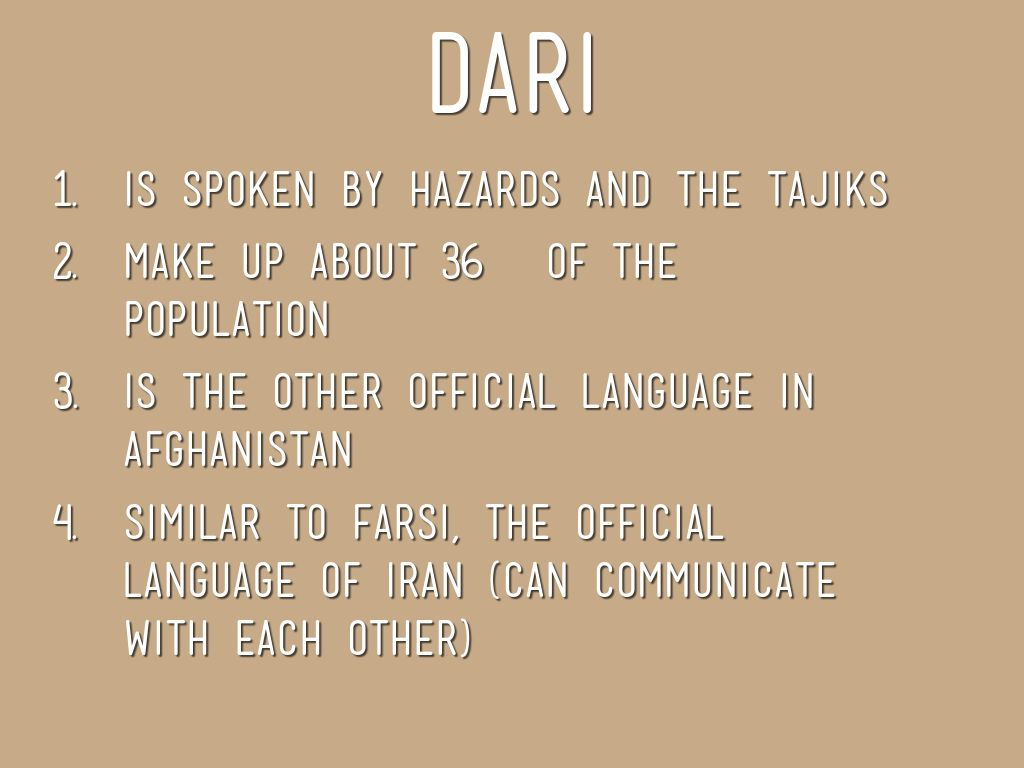Languages in Afghanistan by elyssah98