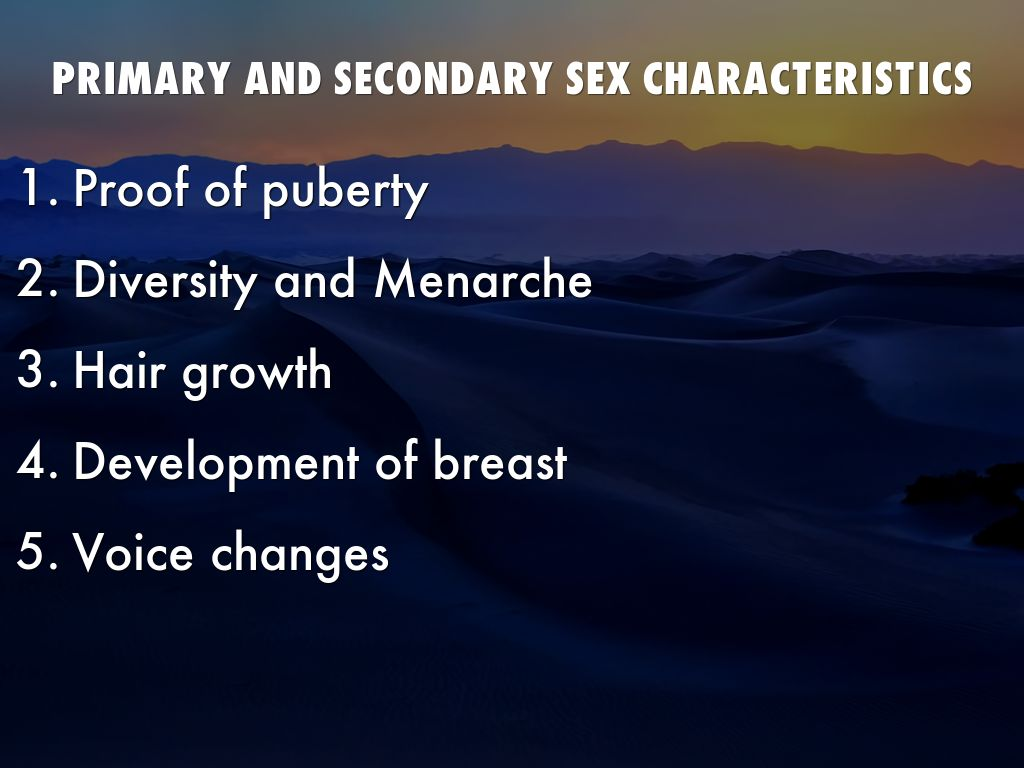 Secondary sexual characteristics and developmental changes in adolescence