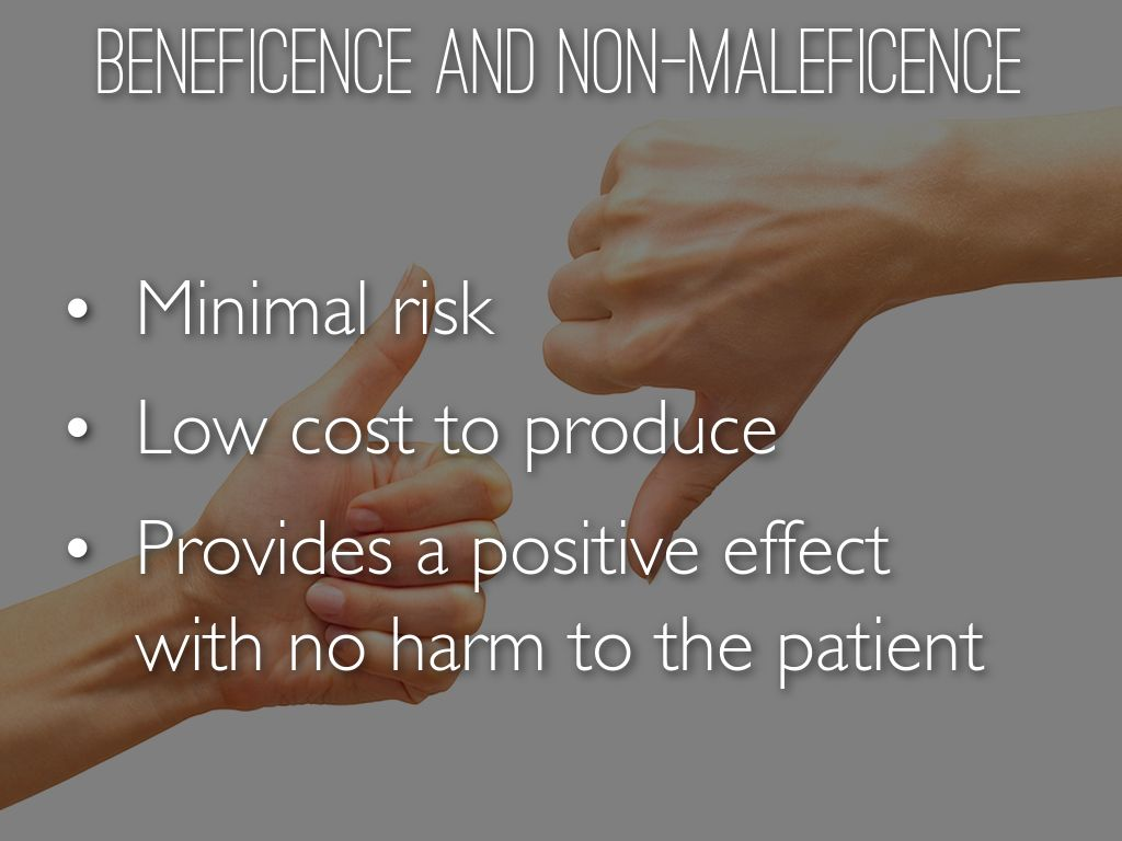 difference between beneficence and non maleficence
