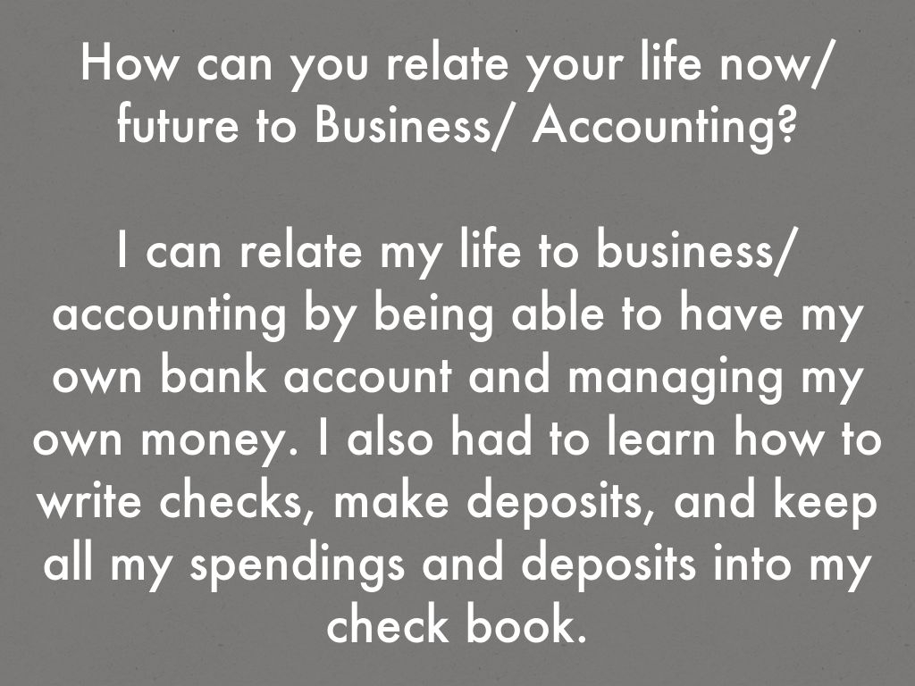 Day 2 - What does Accounting mean to you? by 17mns