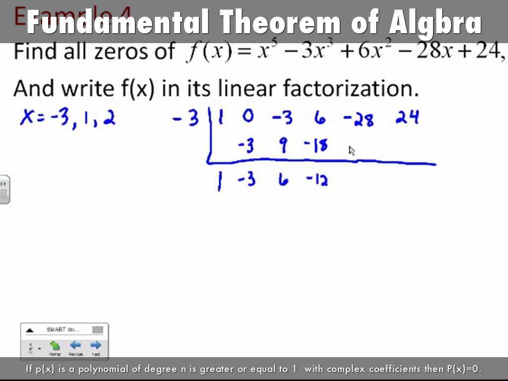 Fundamental Theorem Of Algbra