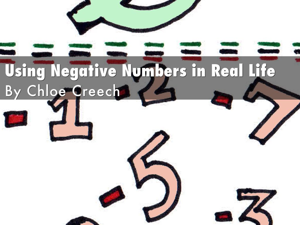 Using Negative Numbers In Real Life By Creechn