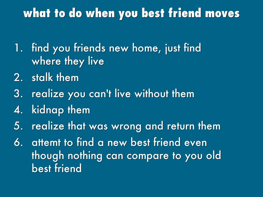 You and your best friend