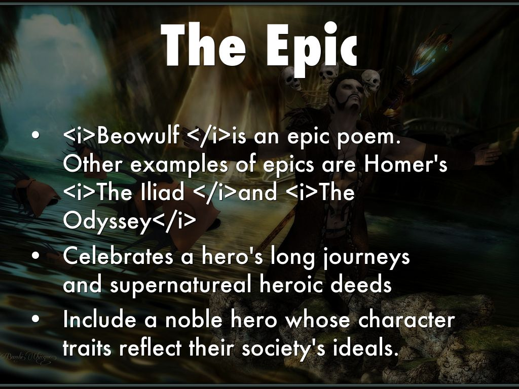 beowulf profile of an epic