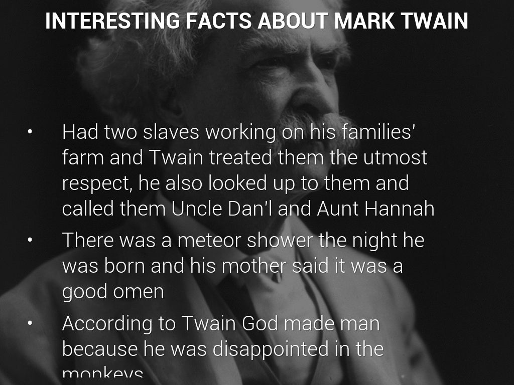 was mark twain against slavery