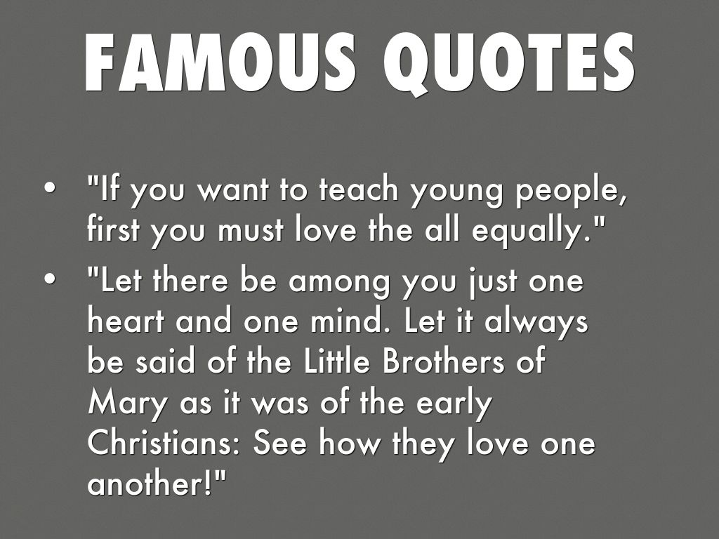 Love One Another Quotes Marcellin Champagnatben Burchett