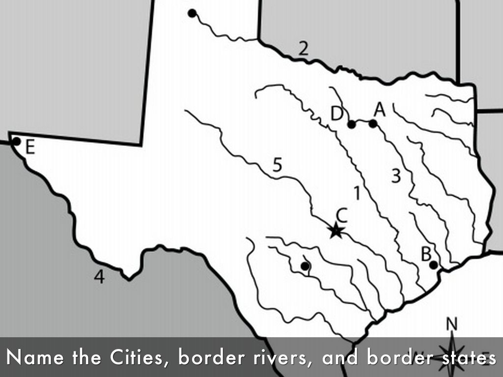 Bellringer Pretend Texas Had No People And You Were - Map of texas cities and rivers