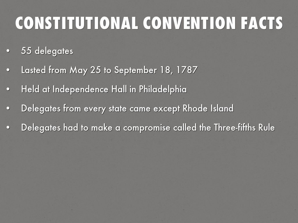 an analysis of the constitutional convention The constitutional convention of 1787 was an important time in the history of the united states over many weeks, a series of laws were put.
