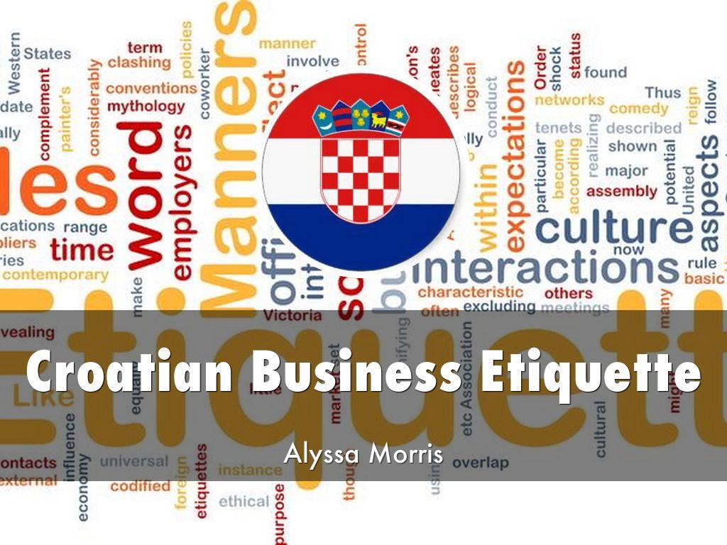 Croatian dating etiquette
