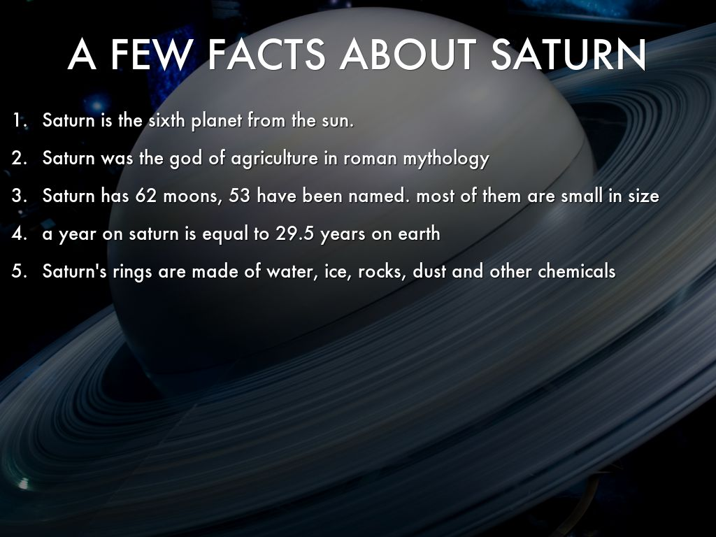 a few facts about saturn by daffychips