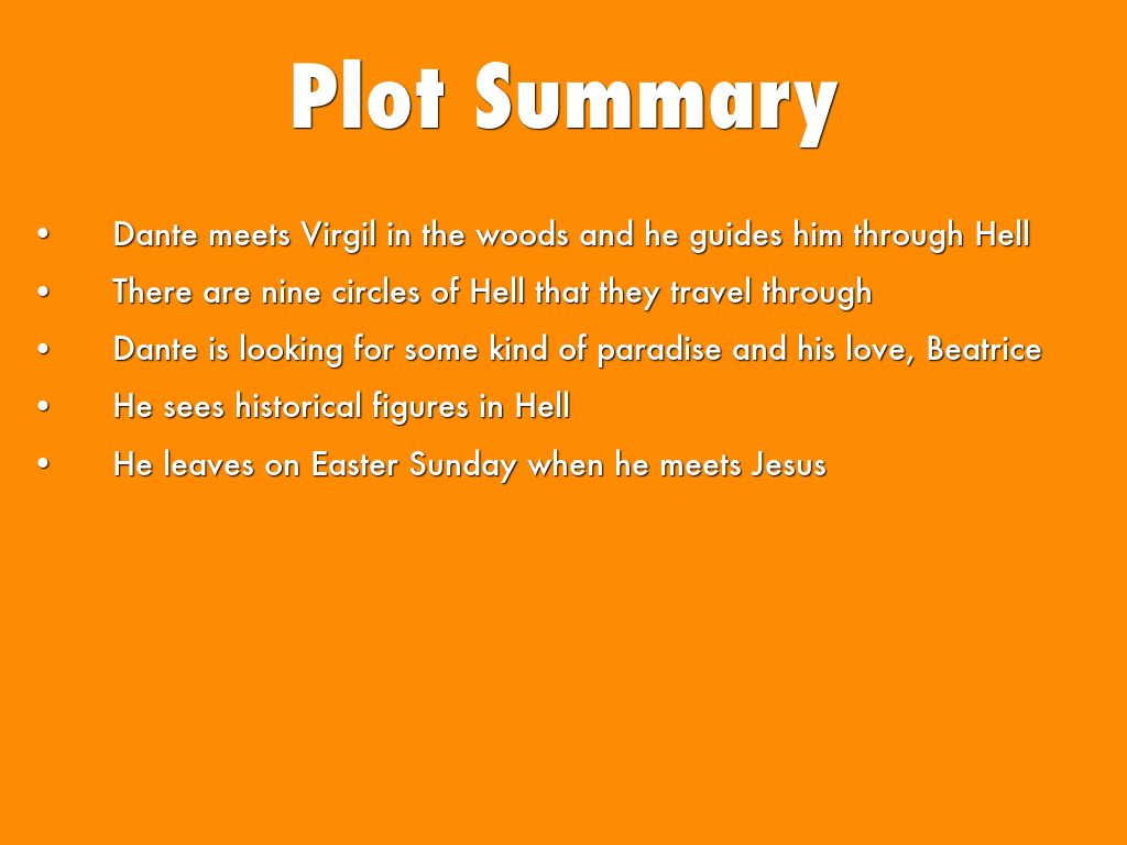 dante's inferno plot summary