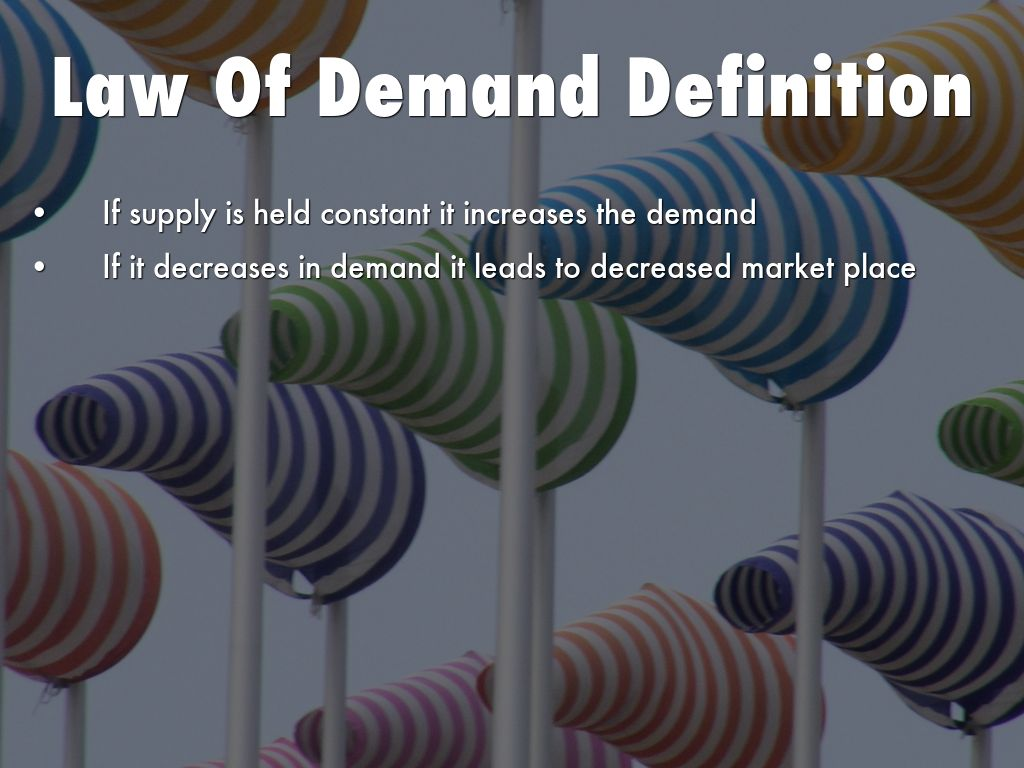 law of demand term paper Essays supply and demand and coca cola increases  law of demand: it is normally depicted as an inverse relation of quantity demanded and price the higher the .