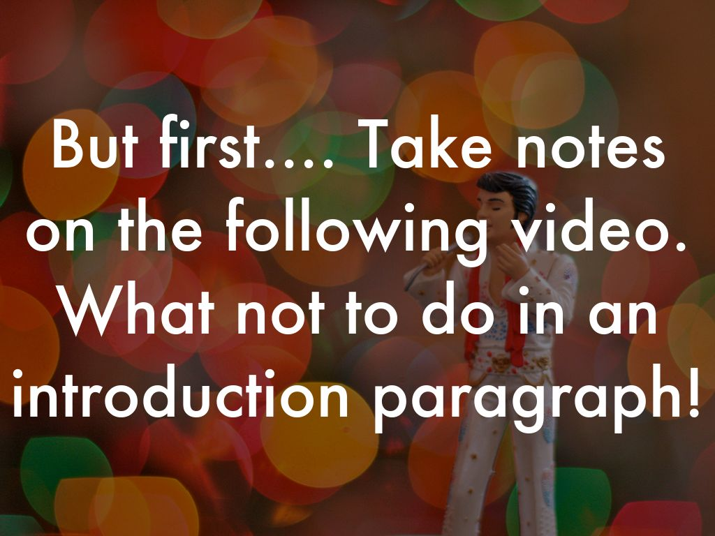 how to do an intro paragraph
