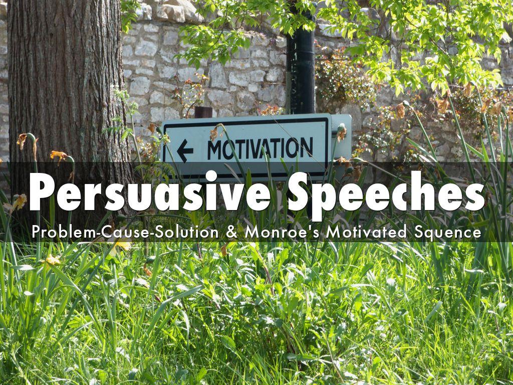 persuasive speech outline problem cause solution