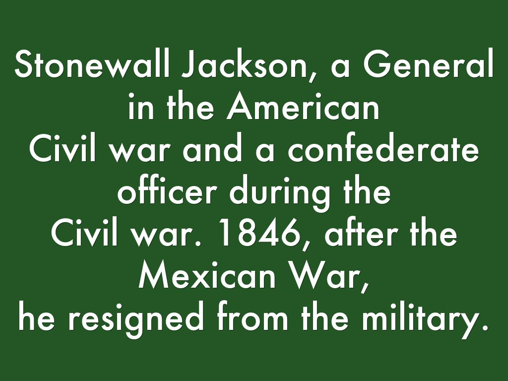 stonewall jackson presentation Stonewall jackson house symposium program 10:45 am presentation will discuss the recent research that has uncovered post-war.