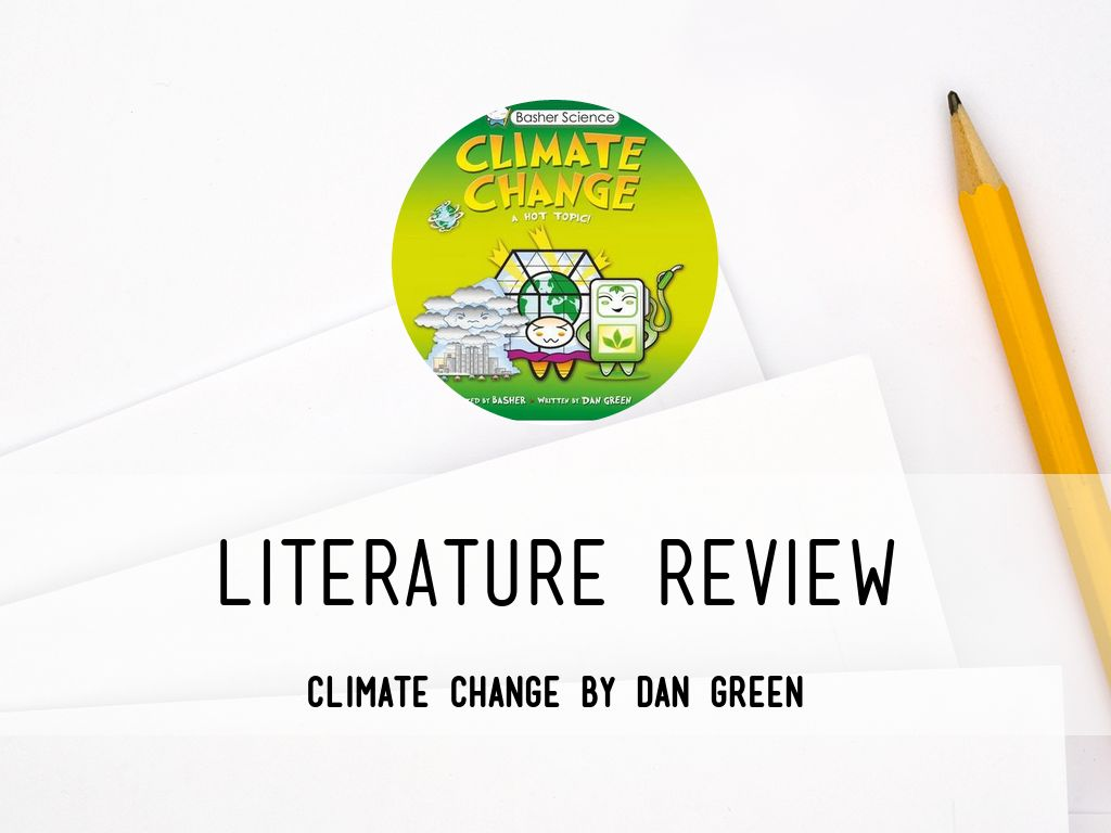 Research paper global warming literature review