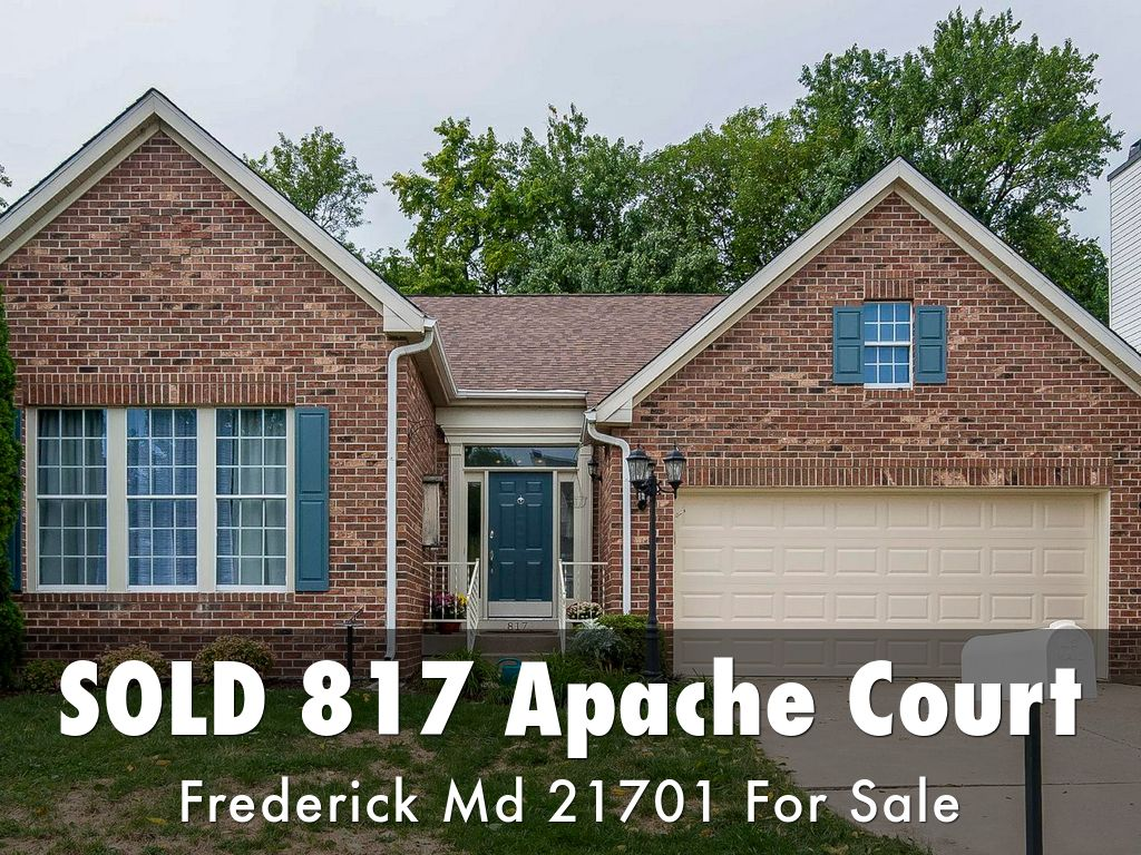 Sold: 817 Apache Court Frederick Maryland