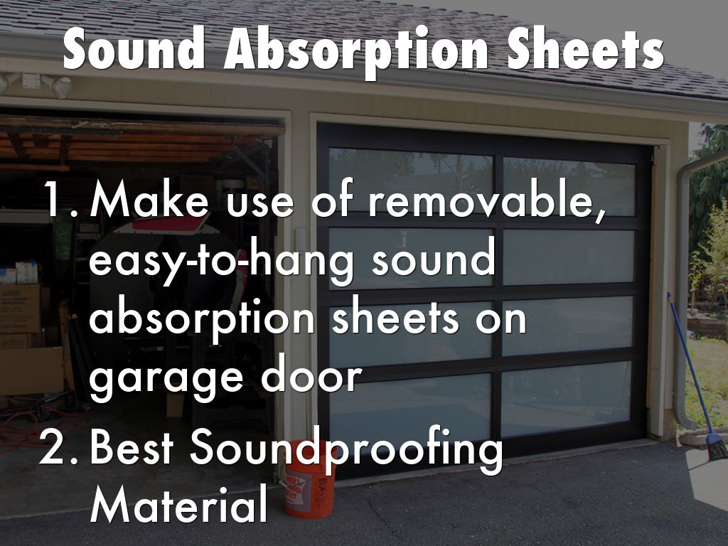 5 Useful Tips To Make Your Garage Soundproof By
