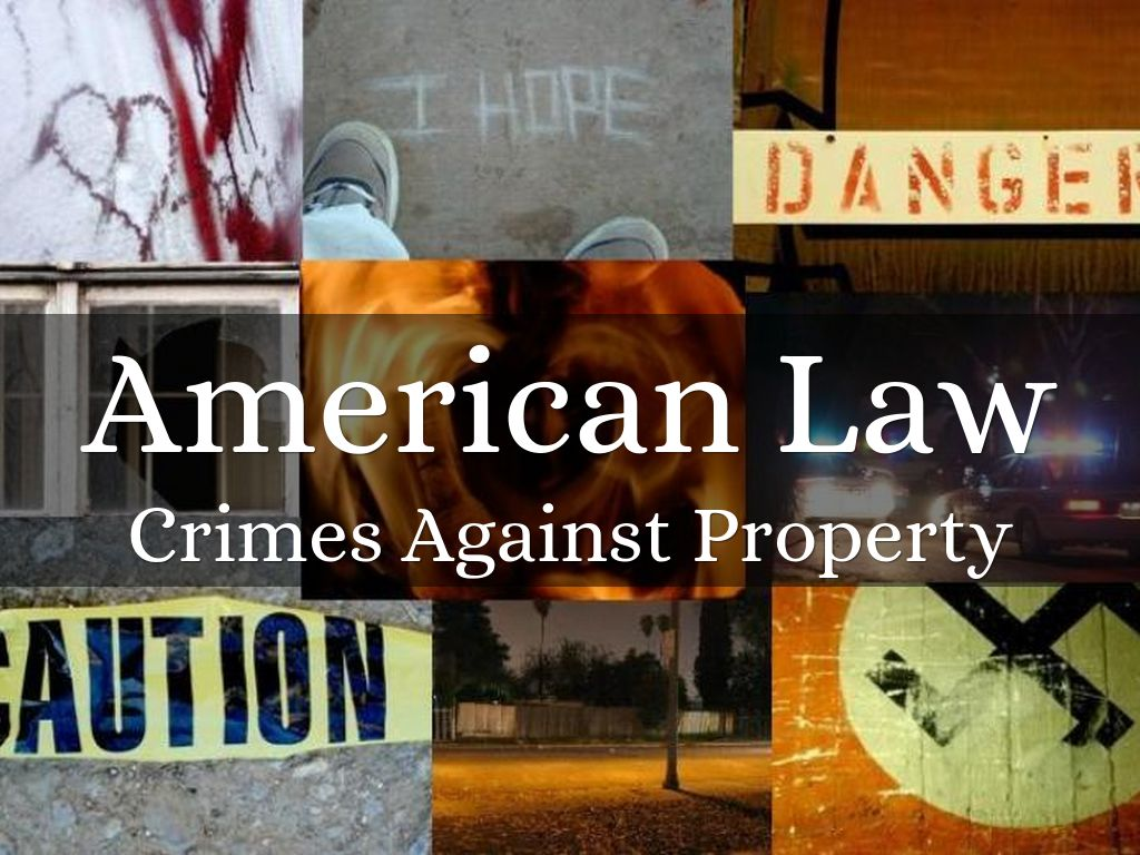 Bush, Shatazia. Crimes against property