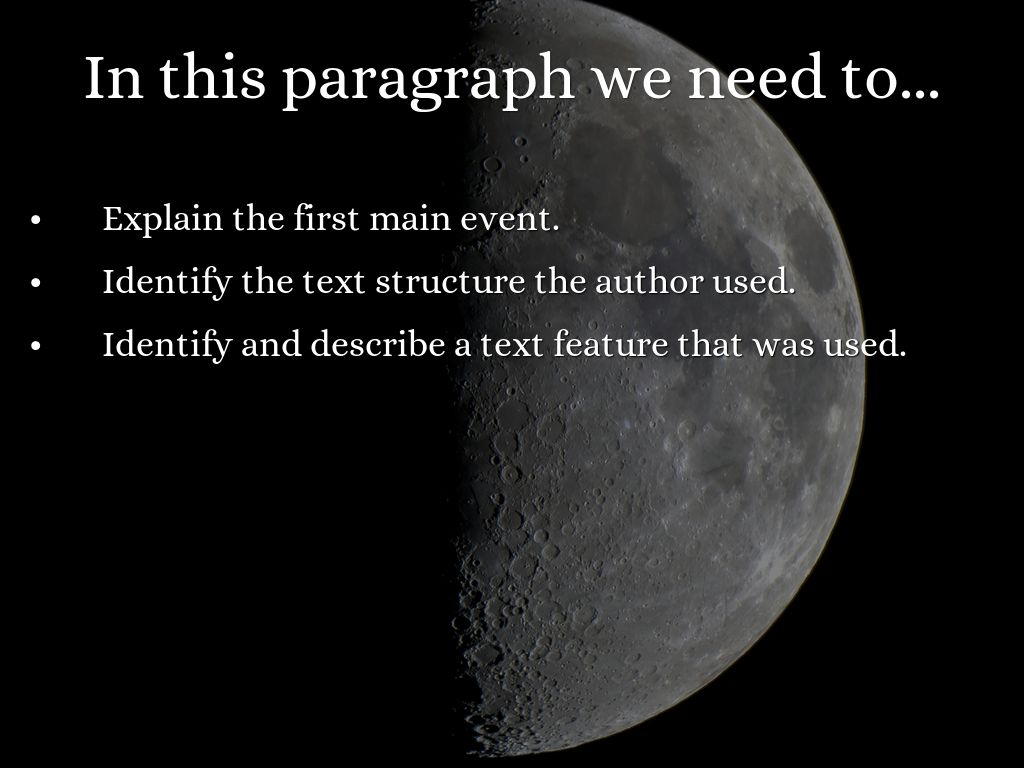 the moon paragraph