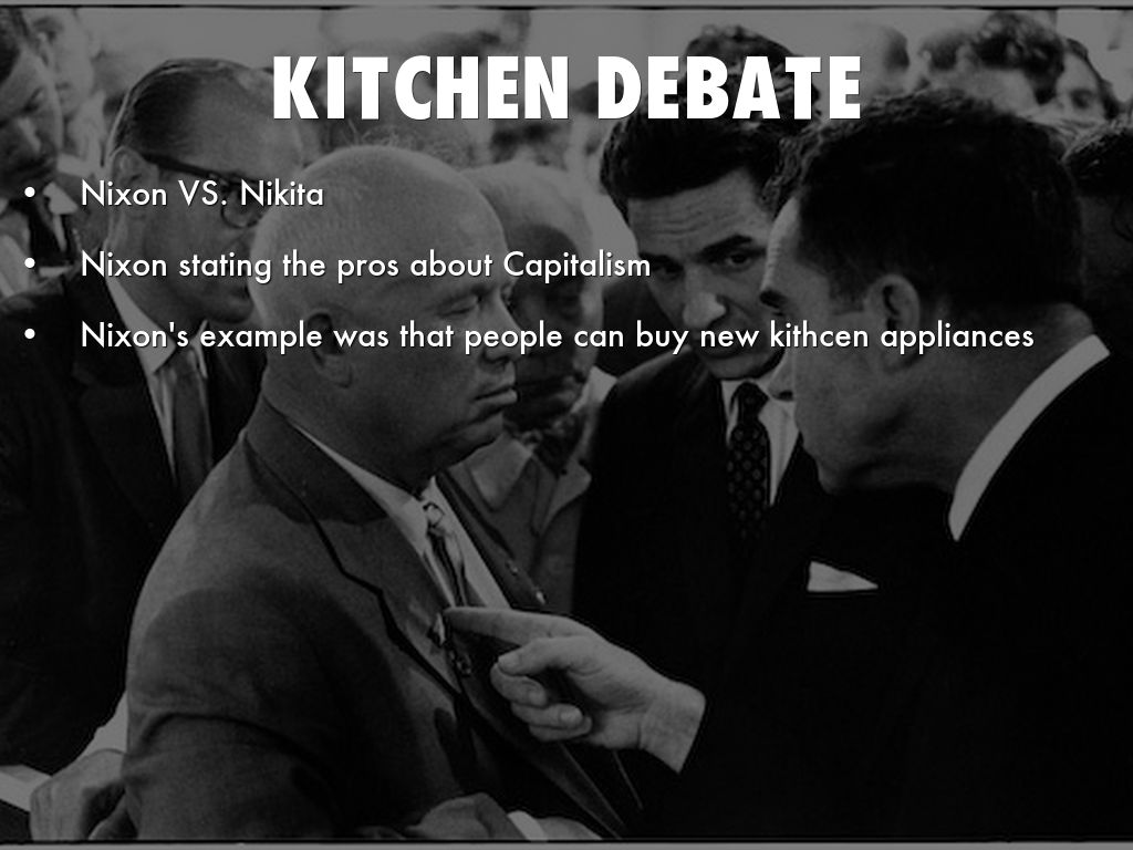 Kitchen Debate. . . Image In The Kitchen Debate Richard Nixon ...