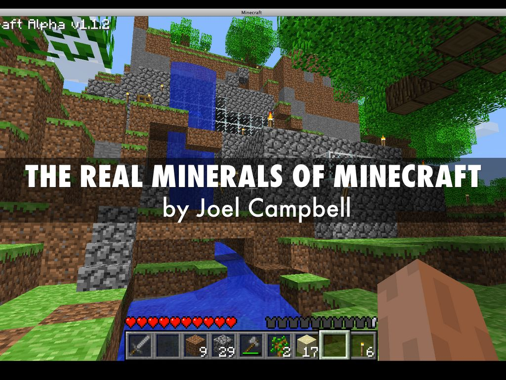 the real minerals of minecraft by tracy campbell