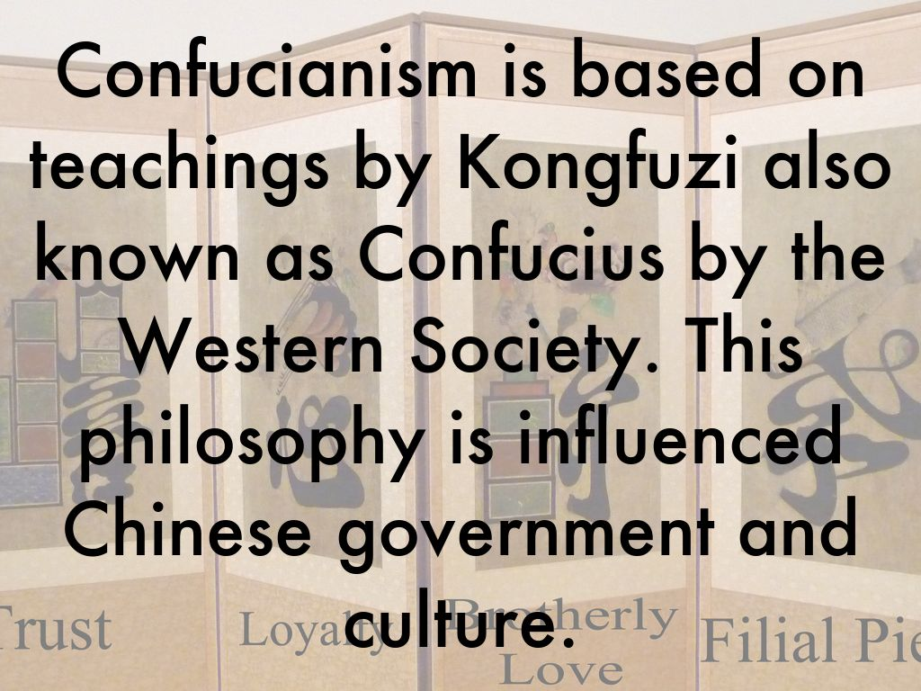 confucianism and the west Neo-confucianism - wikipedia is the it's unfortunately universal, west or east to understand confucius' confucianism is to understand lao tzu's taoism.