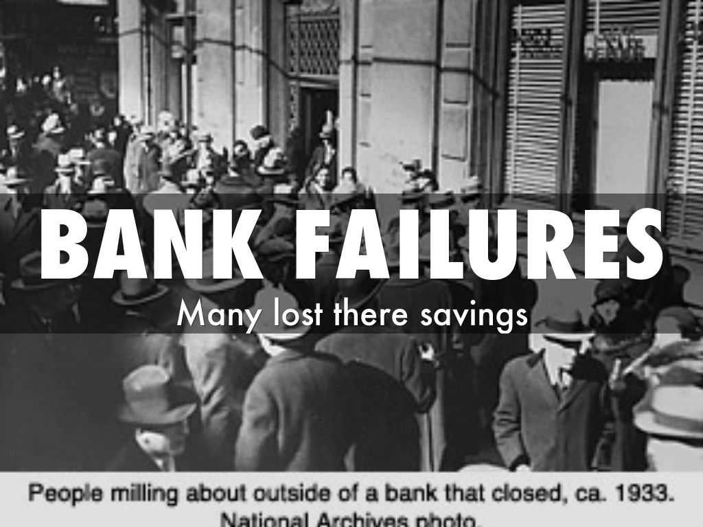 bank runs during the great depression During the great depression, there were many incidents of banks failing, for  example, many banks experienced bank runs these situations.