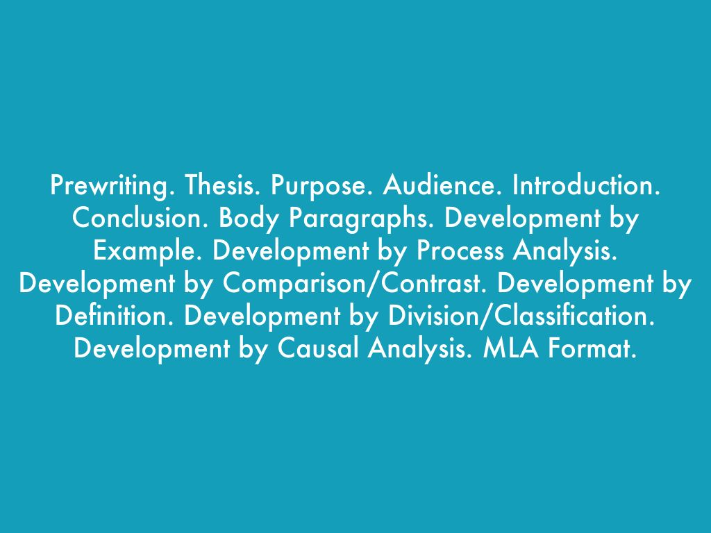 define the purpose consider the audience and develop the thesis