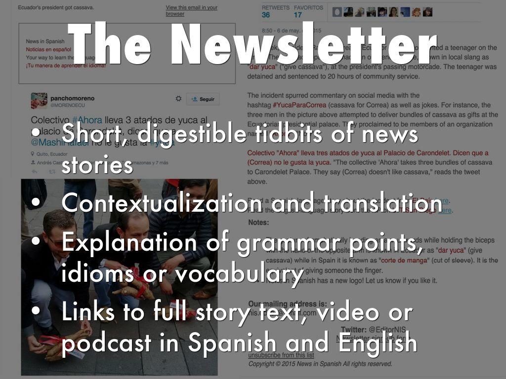 News in Spanish